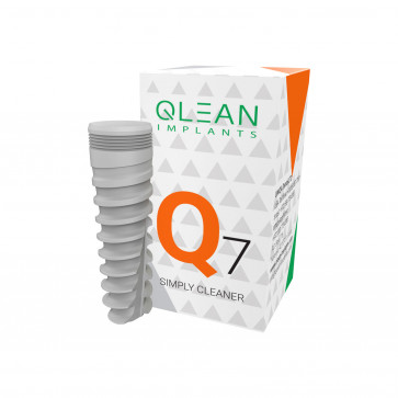Q7 Qlean implant, conical internal hex self tapping implant