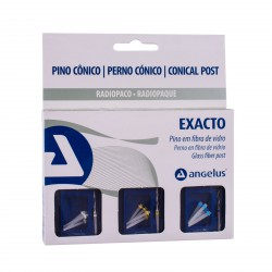 Kit Exacto Glass Fiber Conical Post by Angelus Dental