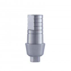 Straight abutment with shoulder wide platform,  internal hex implants, Compatible with: Adin, MIS, AB, AlphaBio and more
