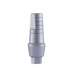 Straight abutment with shoulder,  internal hex implants, Compatible with: Adin, MIS, AB, AlphaBio and more