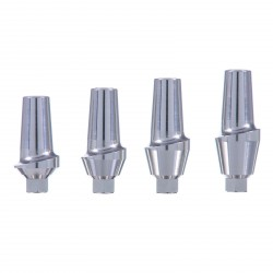 Straight Aesthetic Abutment with screw, Compatible with: Zimmer, Adin, MIS, AB, AlphaBio
